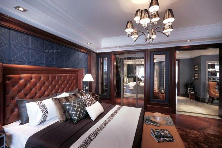 三居室地中海风格主卧室卧室背景墙