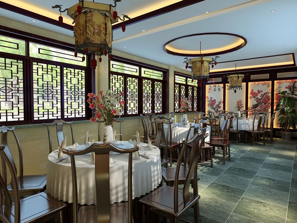 餐馆方案装修效果图图片