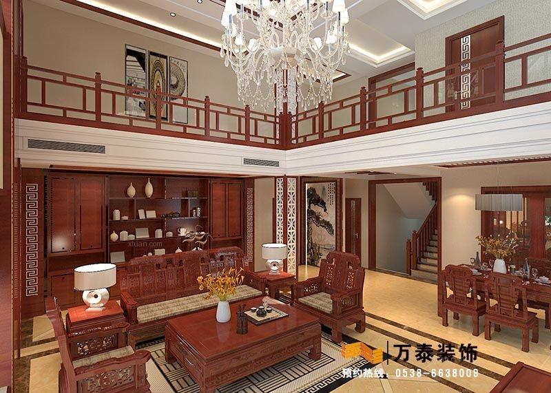 泰安秀水湾别墅中式欧式混搭设计风格赏析装修效果图