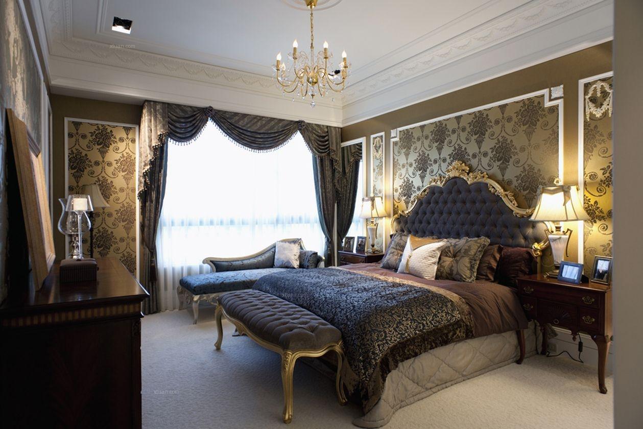 三居室北欧风格卧室软装
