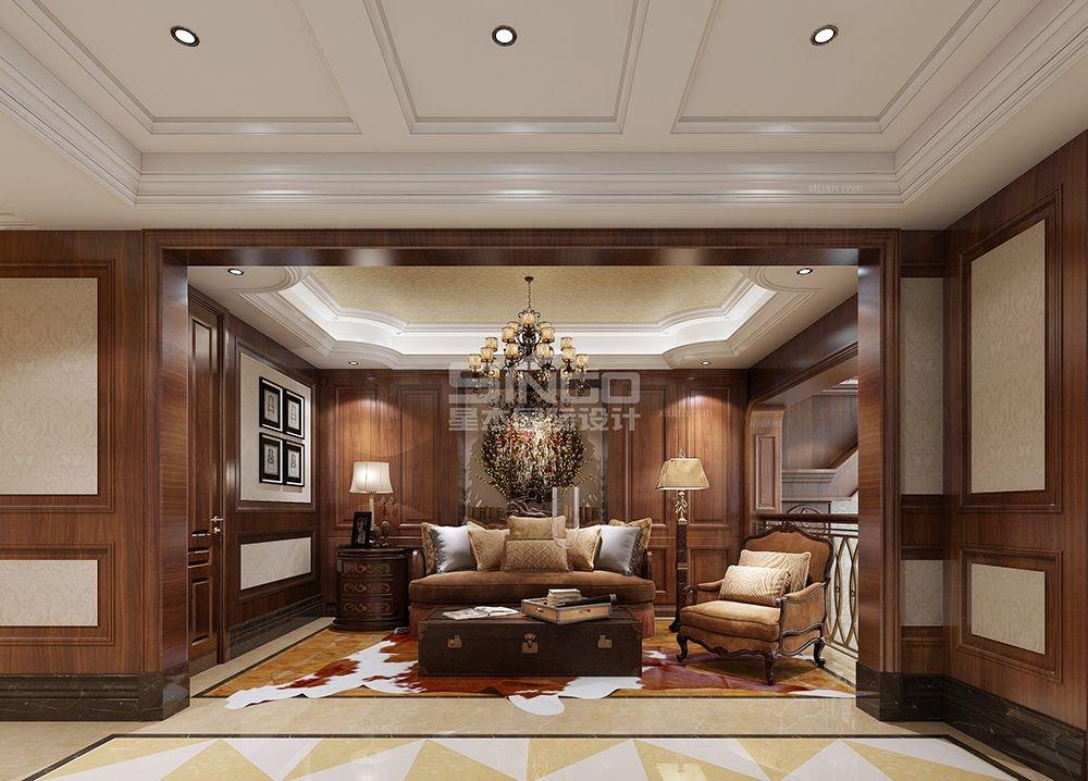 独栋别墅美式风格卧室软装