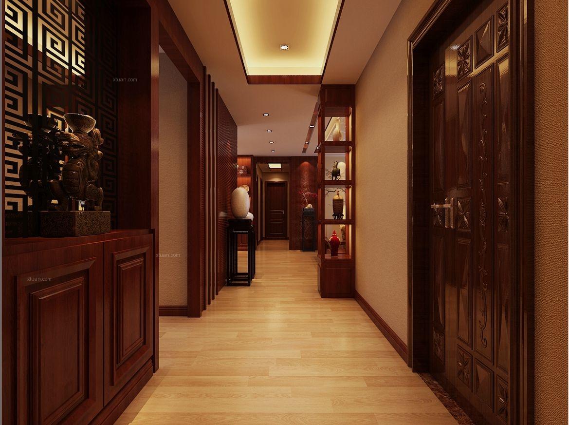 四居室中式风格过道图片