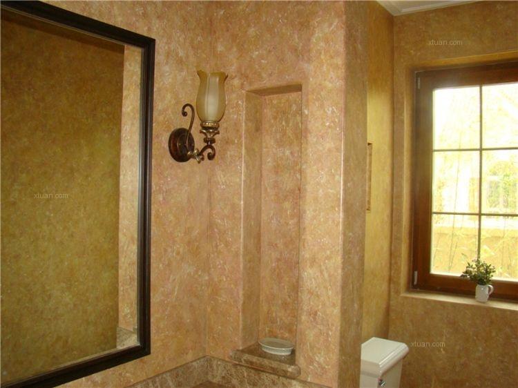 高端别墅室内墙面艺术涂料装修效果图图片