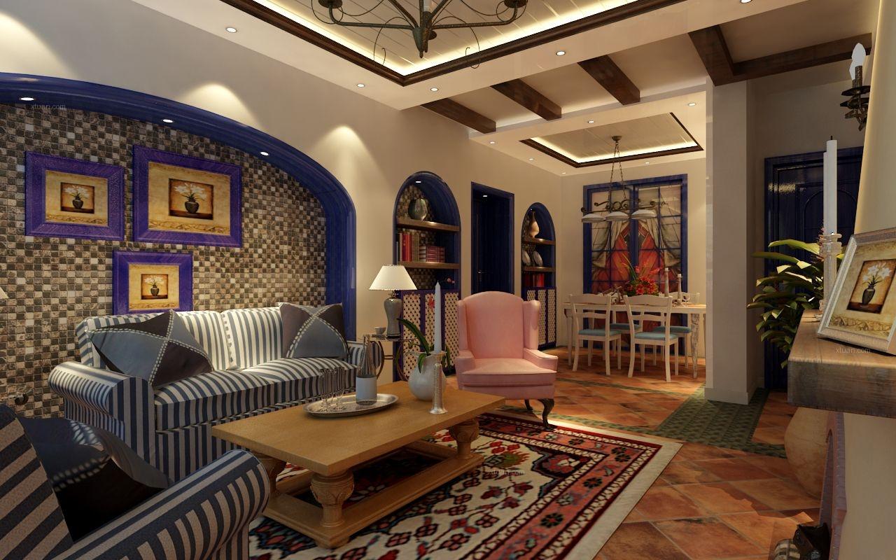 电视背景墙 设计理念: 让设计改变生活> 地中海风格是西欧文艺复兴