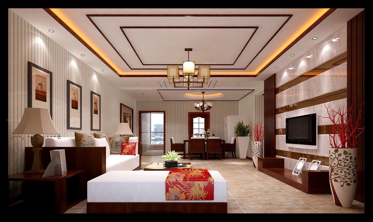 三居室中式风格客厅软装图片