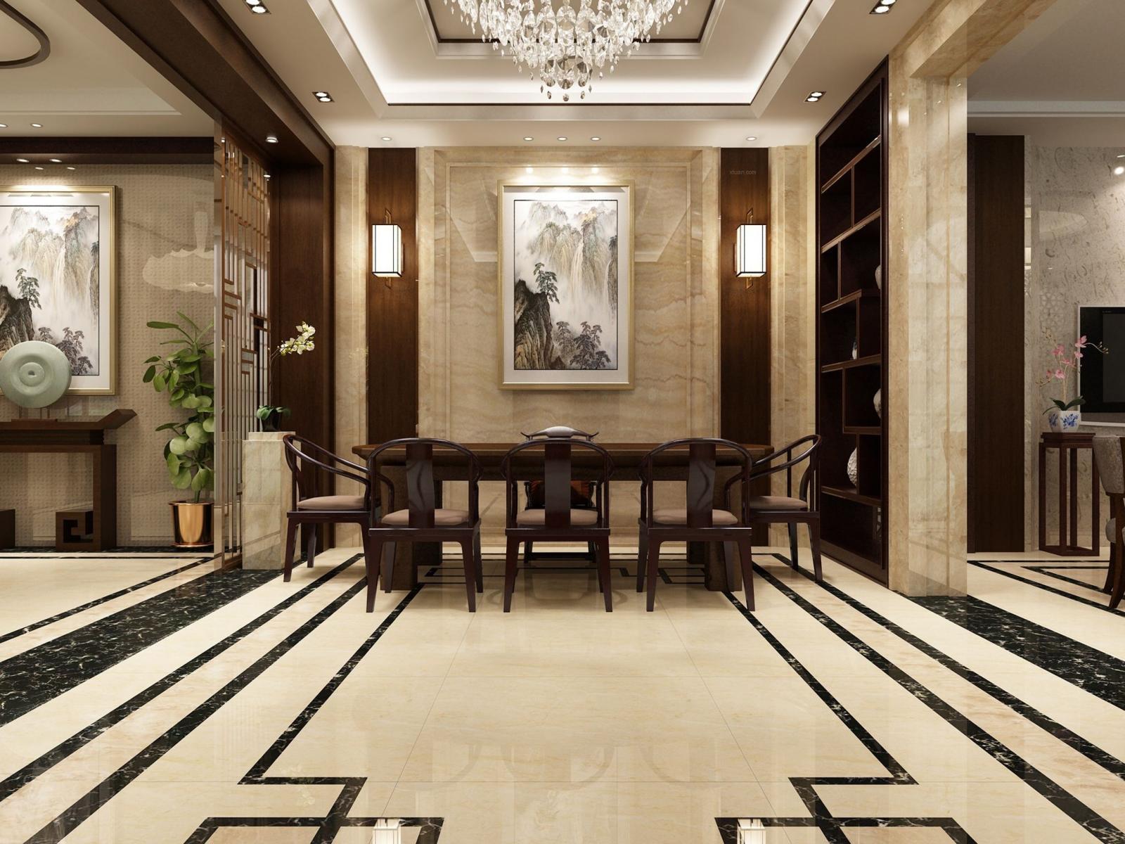 新中式别墅设计装修效果图