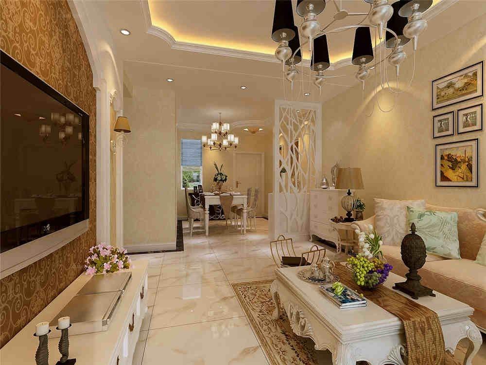 三室两厅简欧风格客厅图片