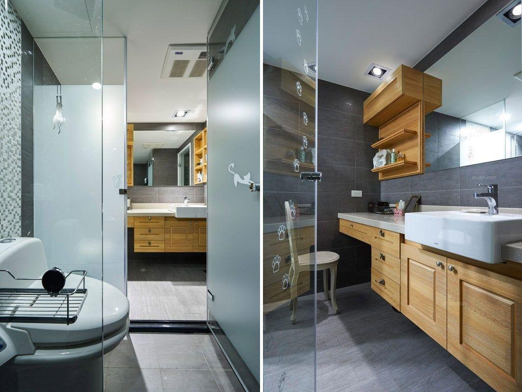 单身公寓美式风格卫生间图片