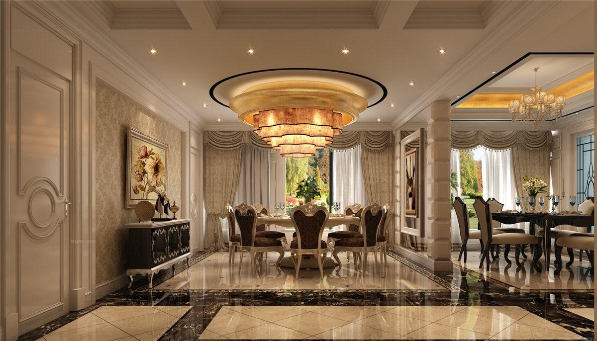 中海紫御豪庭别墅欧式风格设计装修效果图图片