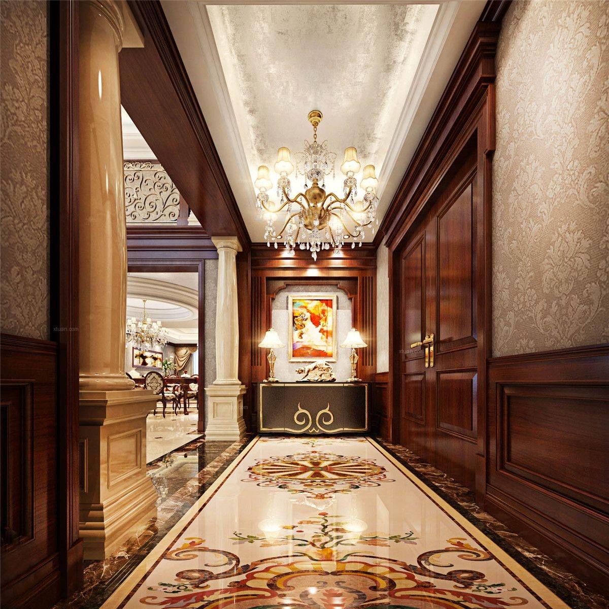 保利叶语别墅新中式风格设计装修效果图图片