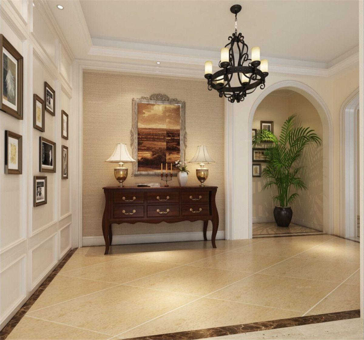 别墅美式风格玄关图片