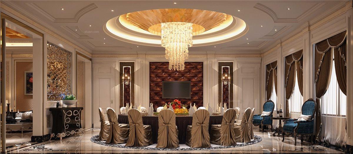 新天鸿高尔夫别墅欧式风格设计方案装修效果图图片