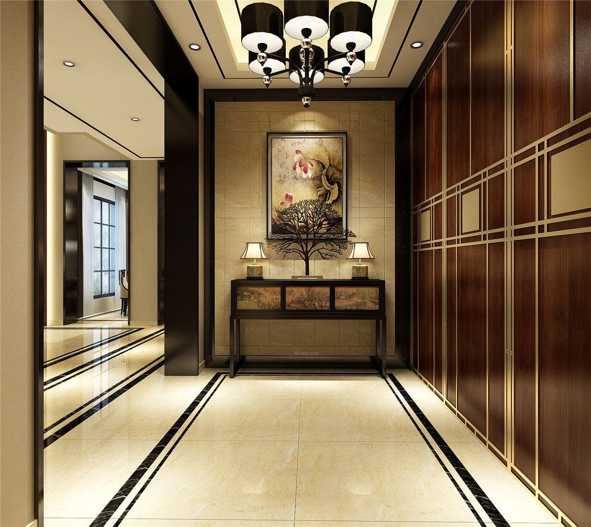 佘山东郡别墅新中式风格设计装修效果图图片