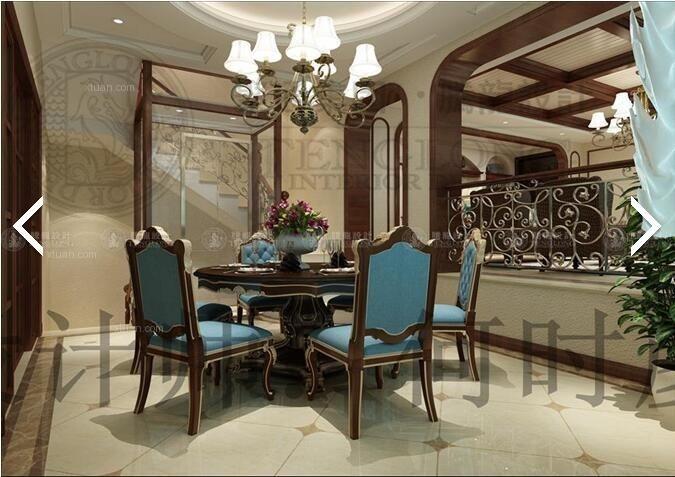 东方帕缇欧别墅美式风格设计装修效果图图片