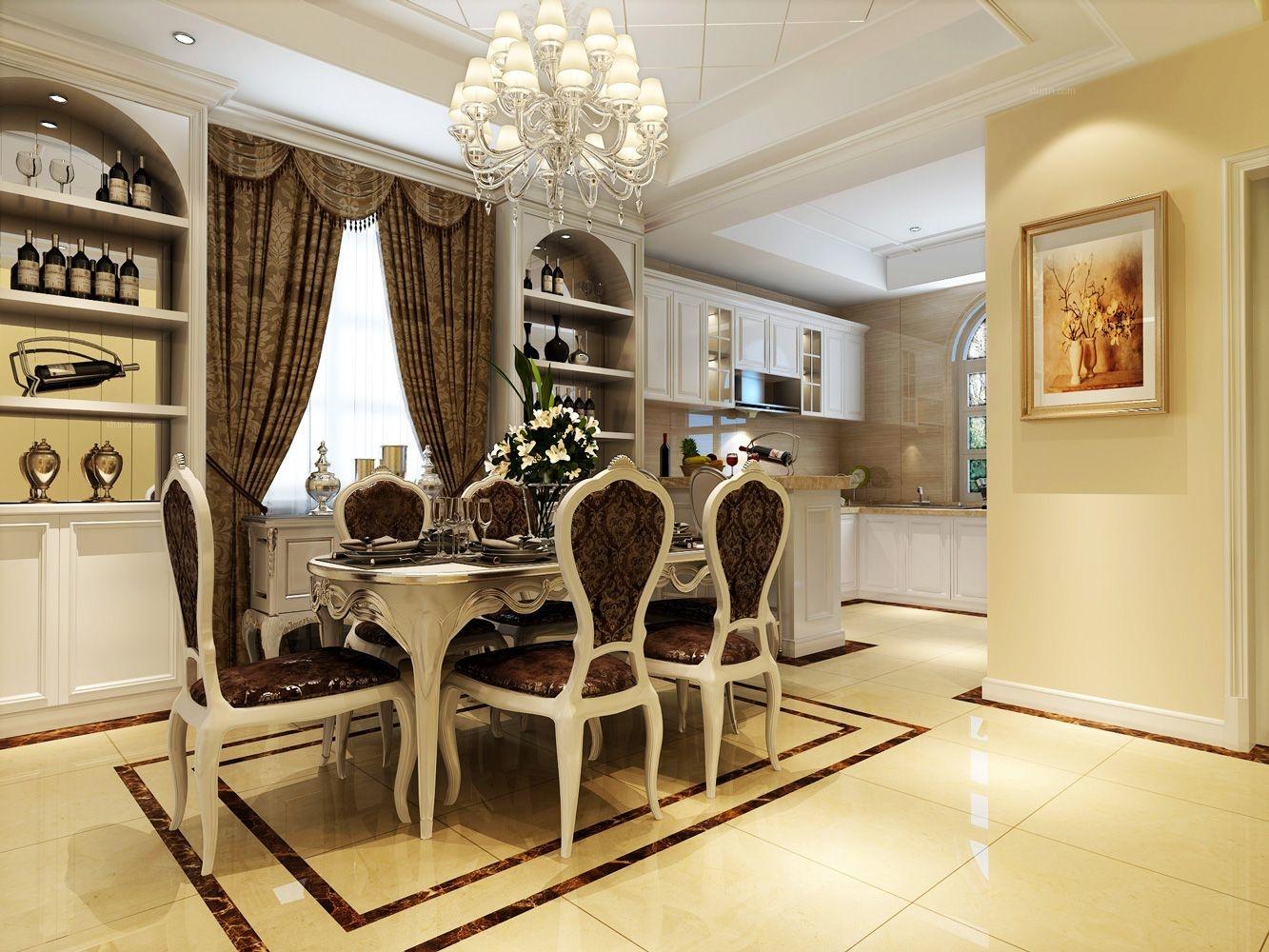 金沙御墅别墅欧式新古典风格设计装修效果图