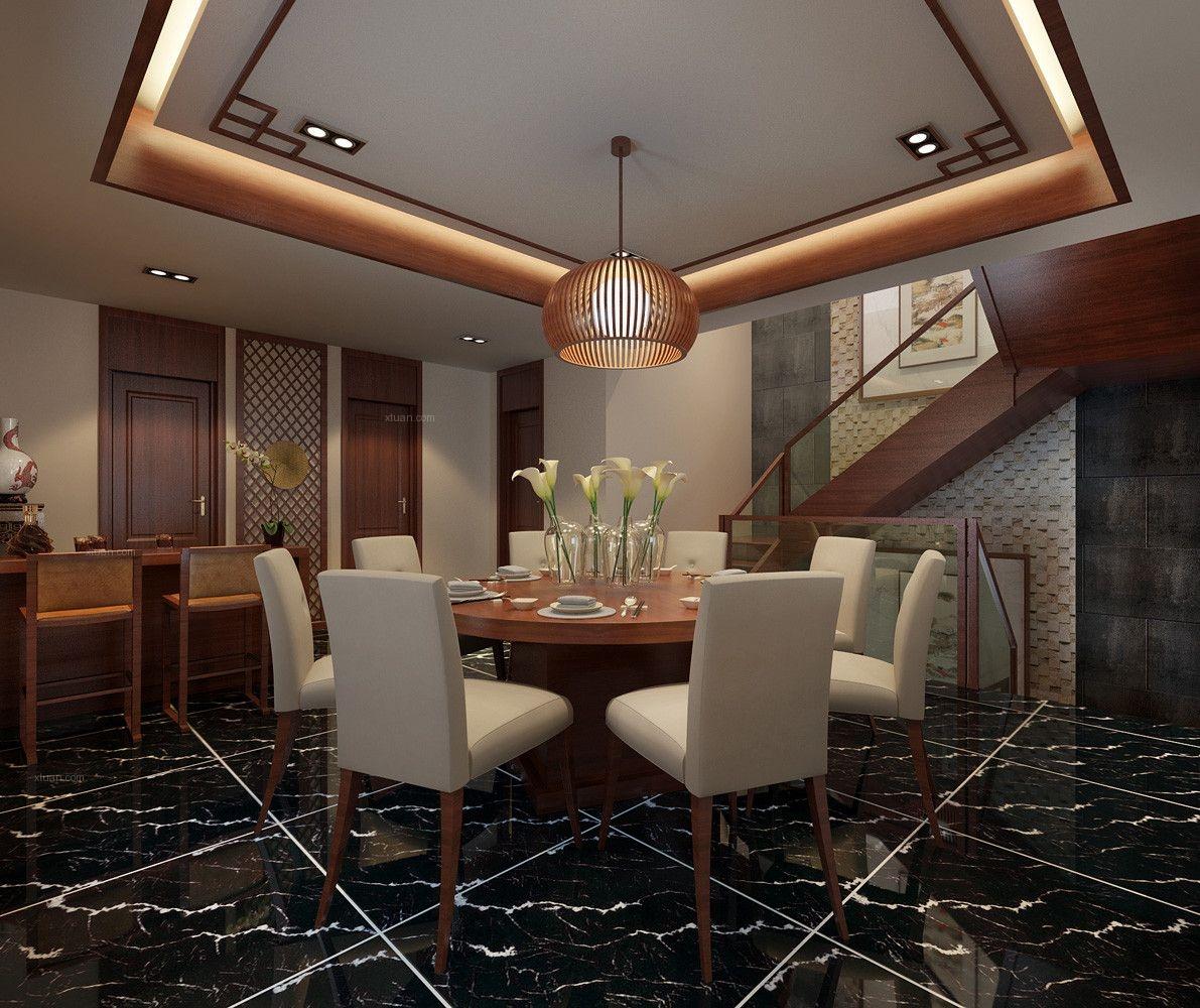 东海御庭别墅新中式风格设计装修效果图