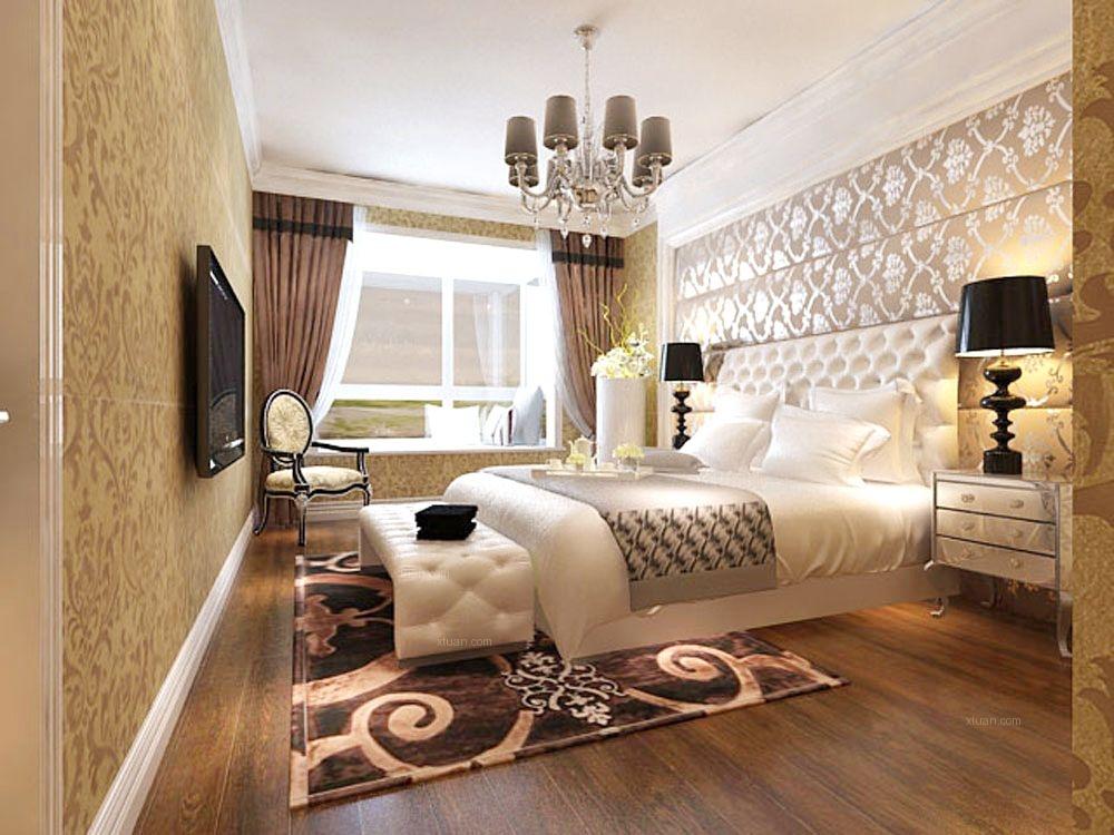 三室两厅欧式风格主卧室图片
