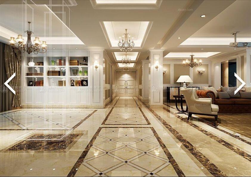 云间绿地大别墅欧式风格设计方案装修效果图图片