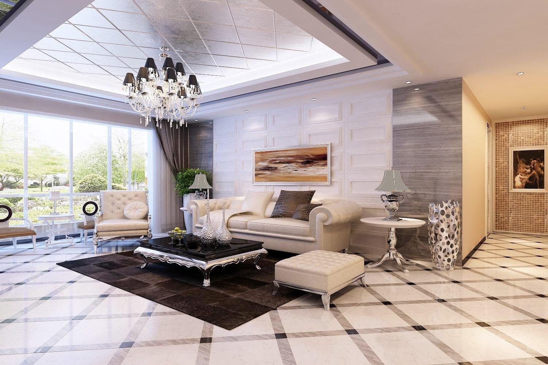 四居室北欧风格客厅沙发背景墙图片