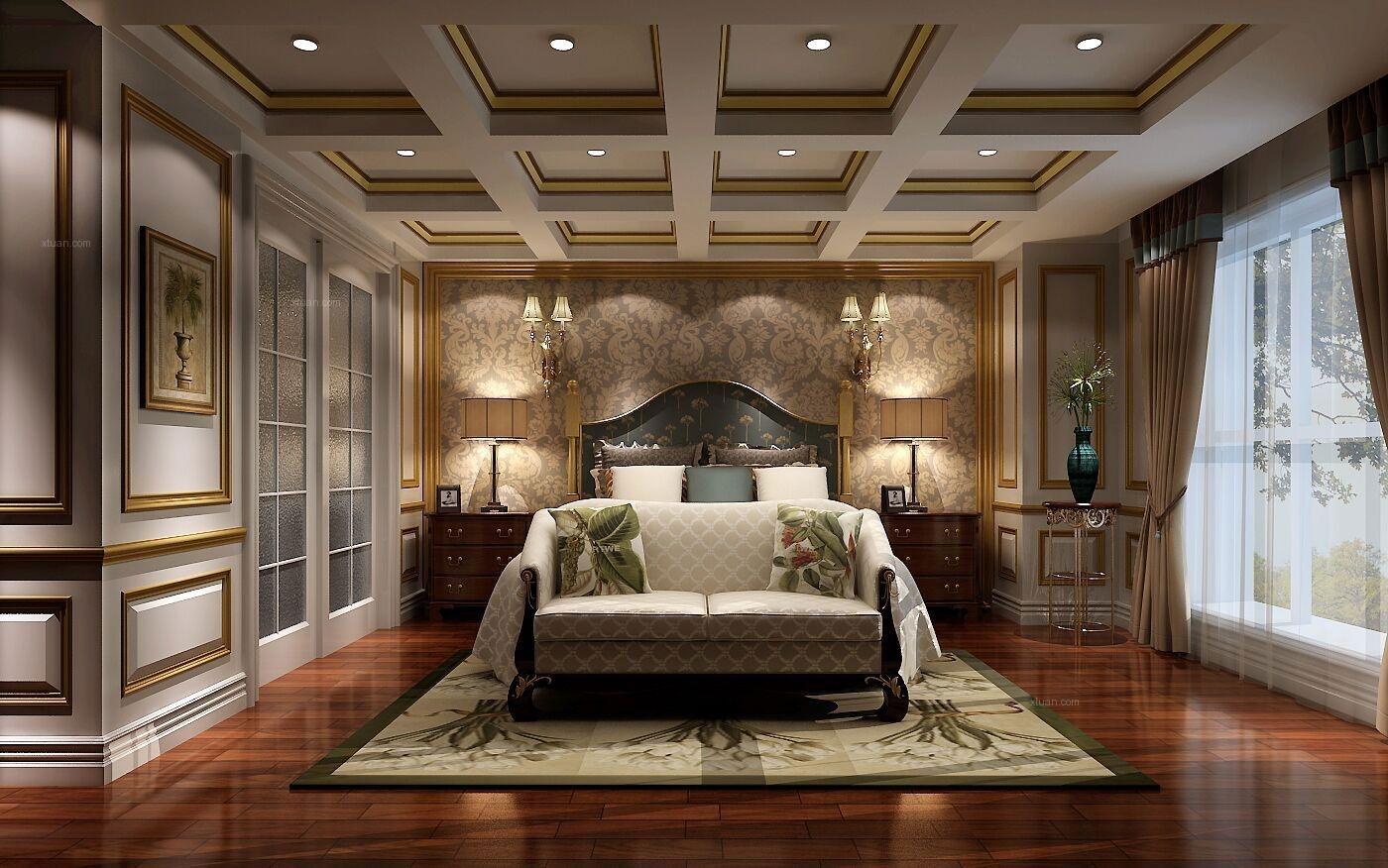 别墅欧式风格卧室软装