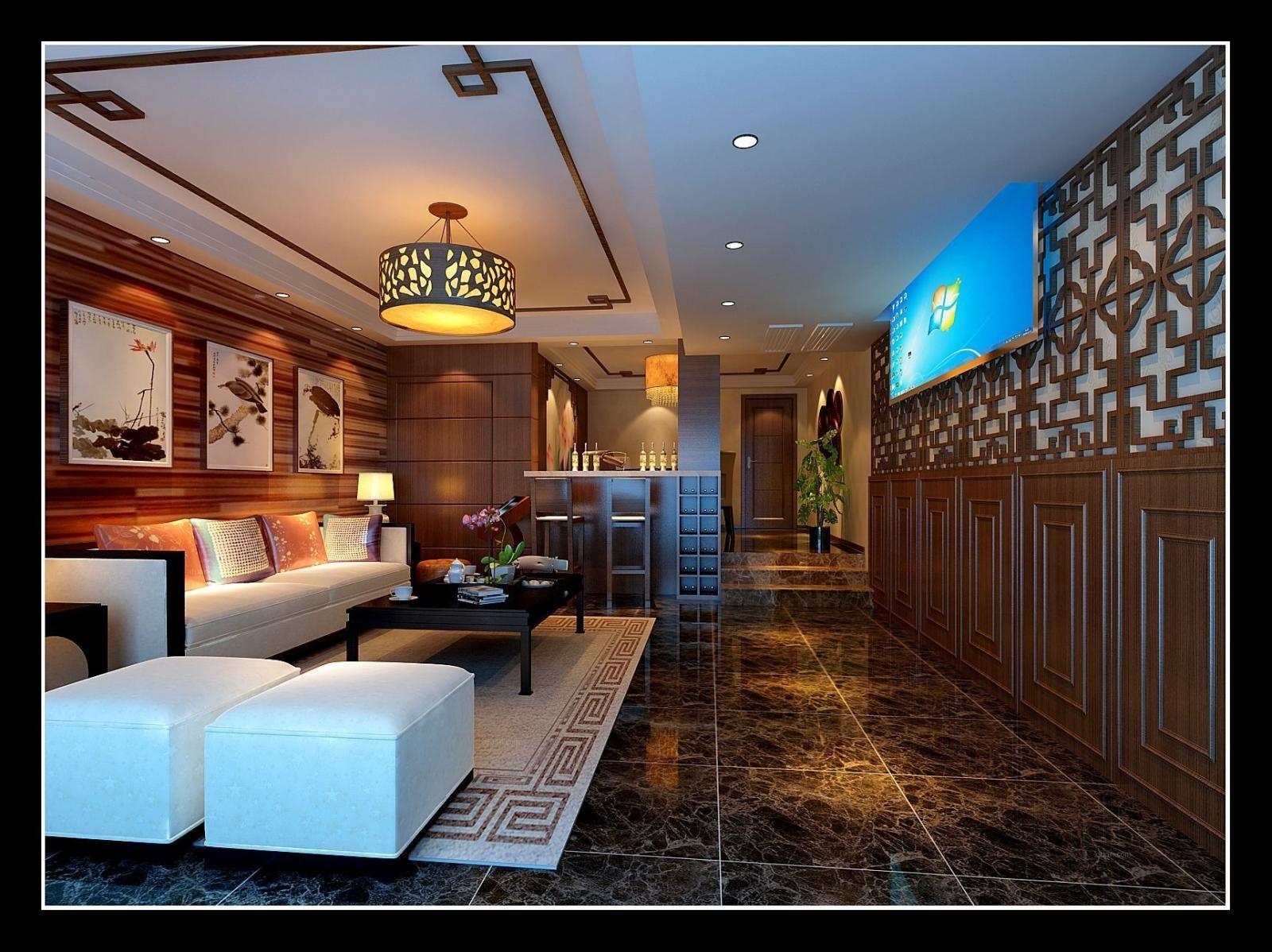 四居室中式风格休闲区图片