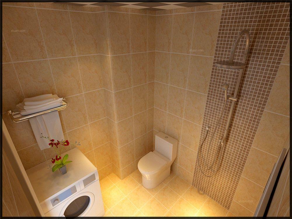 两室两厅简欧风格卫生间图片