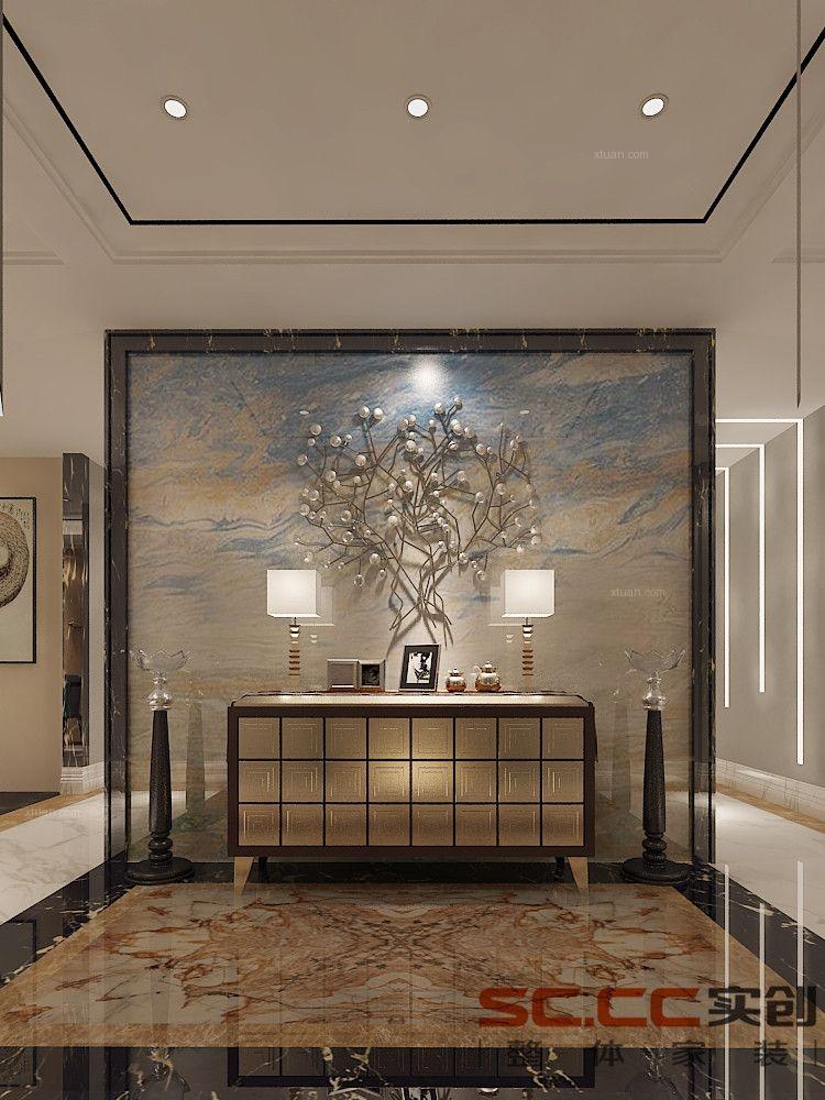 四居室现代简约客厅电视背景墙图片