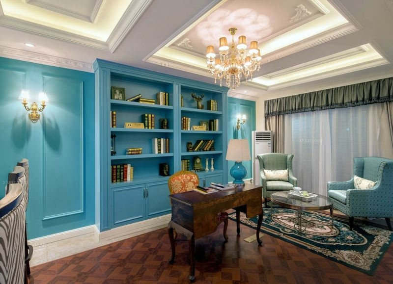 联排别墅欧式风格书房图片