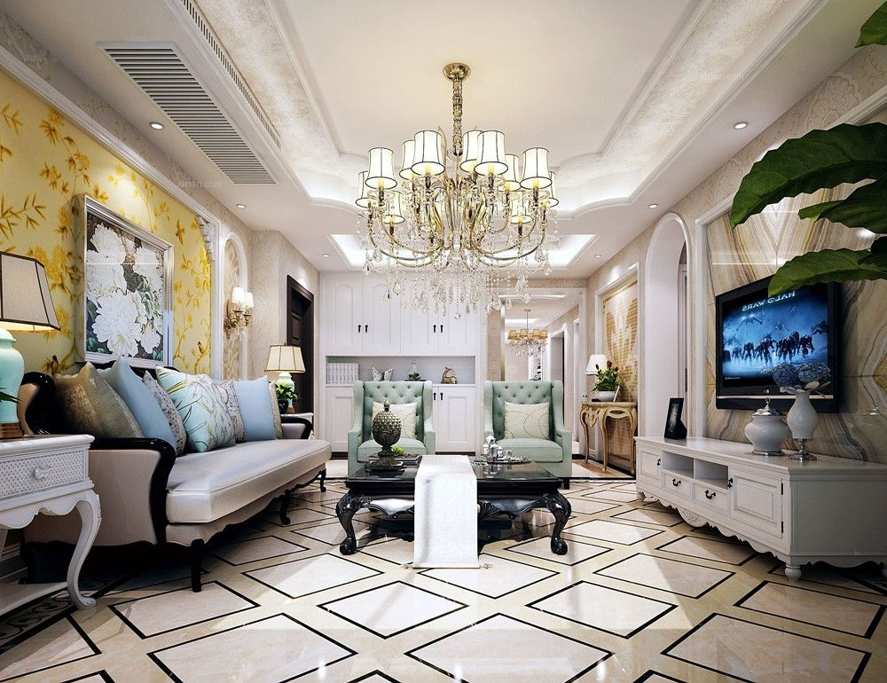 大户型简欧风格客厅图片