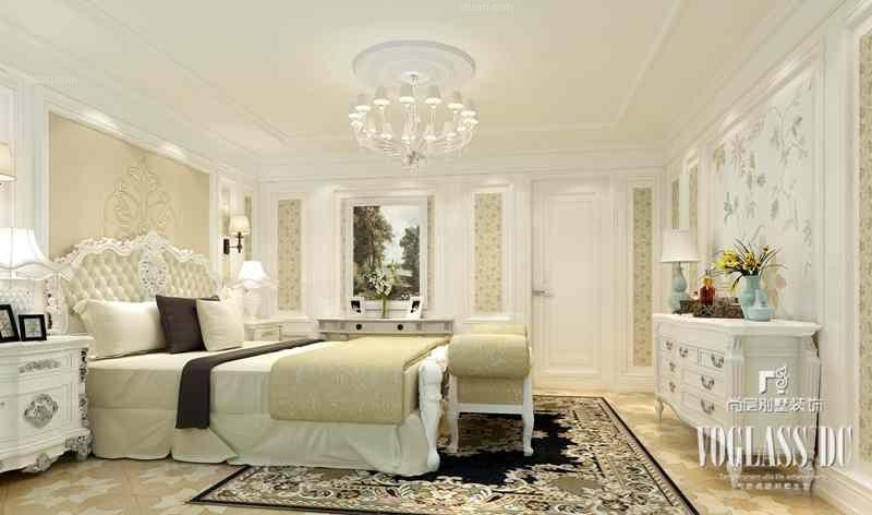 别墅法式风格卧室软装图片