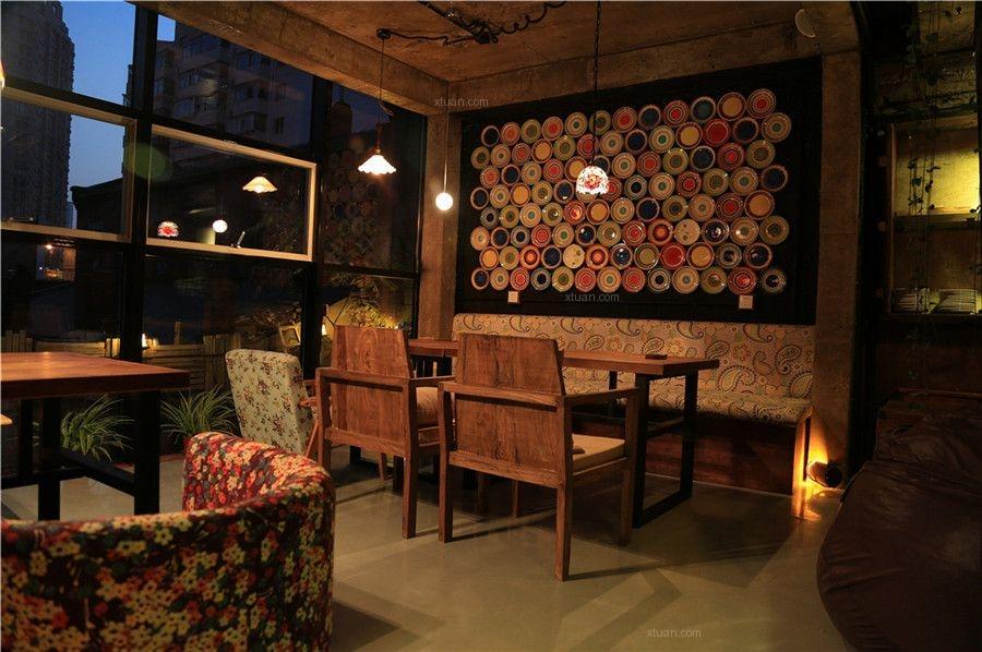 沈阳秘岛休闲文化主题餐厅设计装修效果图