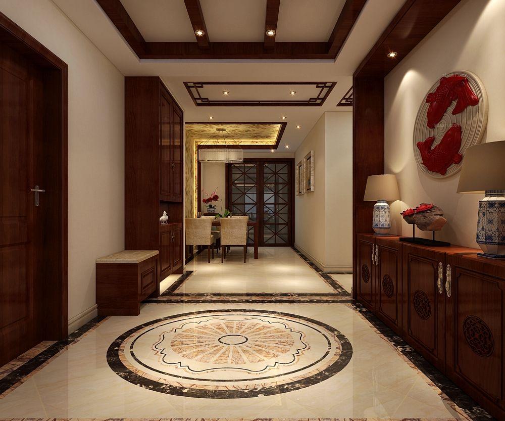 【瀚唐三期】160平米三室两厅新中式风格装修效果图图片