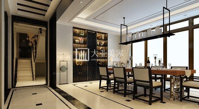 别墅中式风格餐厅图片
