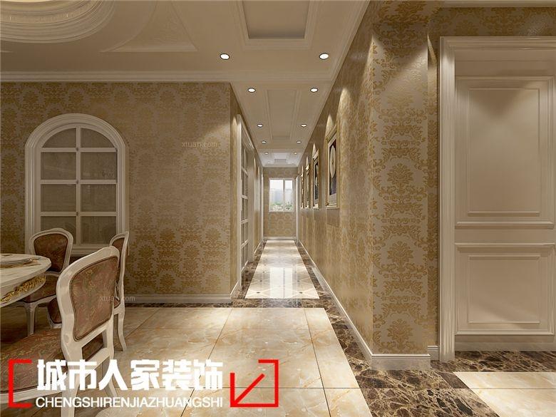 四居室欧式风格玄关沙发背景墙图片