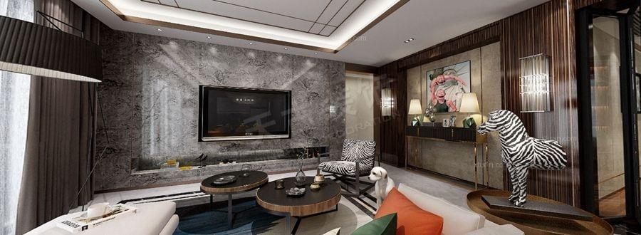 设计理念:【预约咨询:185-2305-9882】本案运用了大量金属色和线条感营造金碧辉煌的豪华感,橙色、黑白灰、木纹来呈现对比,简洁而不失时尚。墙面、地面、顶棚以及家具陈设乃至灯具器皿等均以简洁的造型、纯洁的质地、精细的工艺为特征,强调形式应更多地服务于功能。处理空间方面一般强调室内空间宽敞、内外通透,在空间平面设计中追求不受承重墙限制的自由。