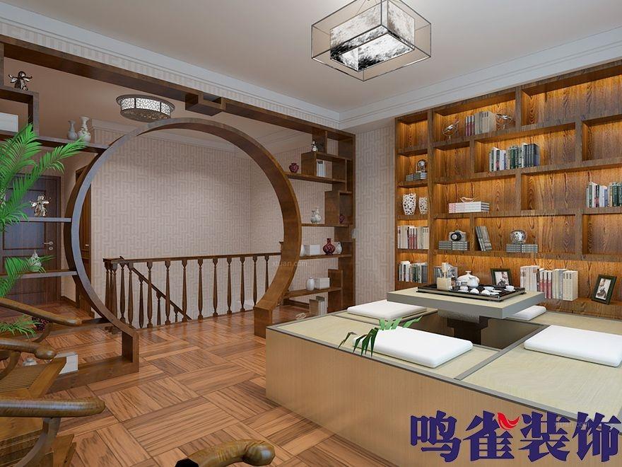两居室中式风格书房客厅隔断