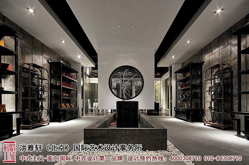 标签:中式风格 设计理念:精美的古典花格和时尚的射灯,互相融合,表达