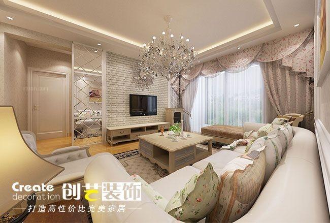 两室一厅简欧风格客厅图片
