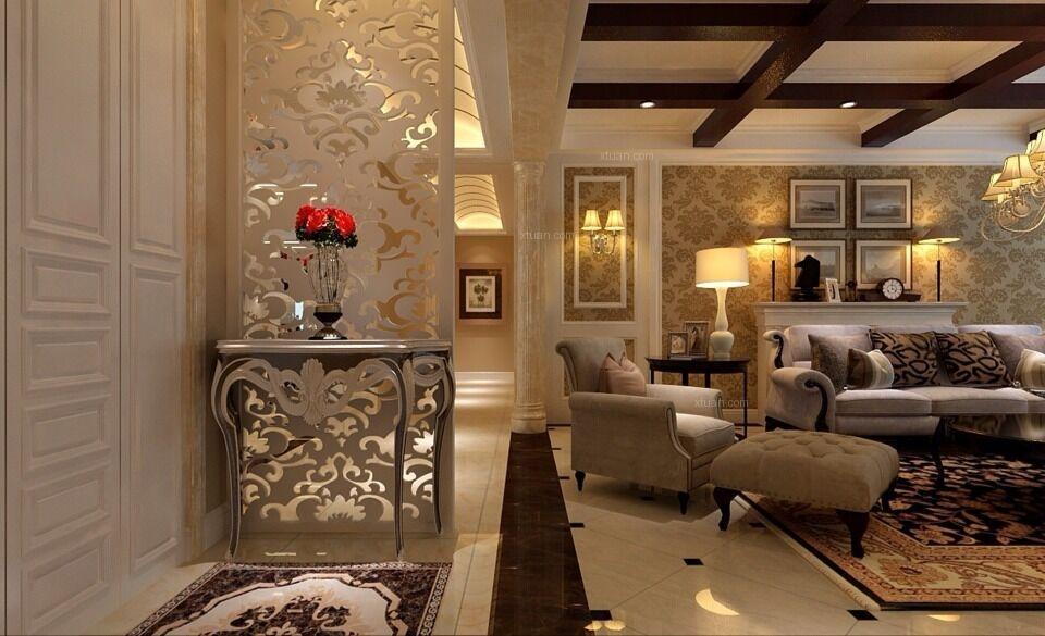 四居室欧式风格客厅客厅隔断