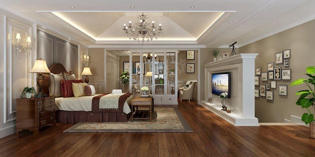 别墅美式风格卧室图片