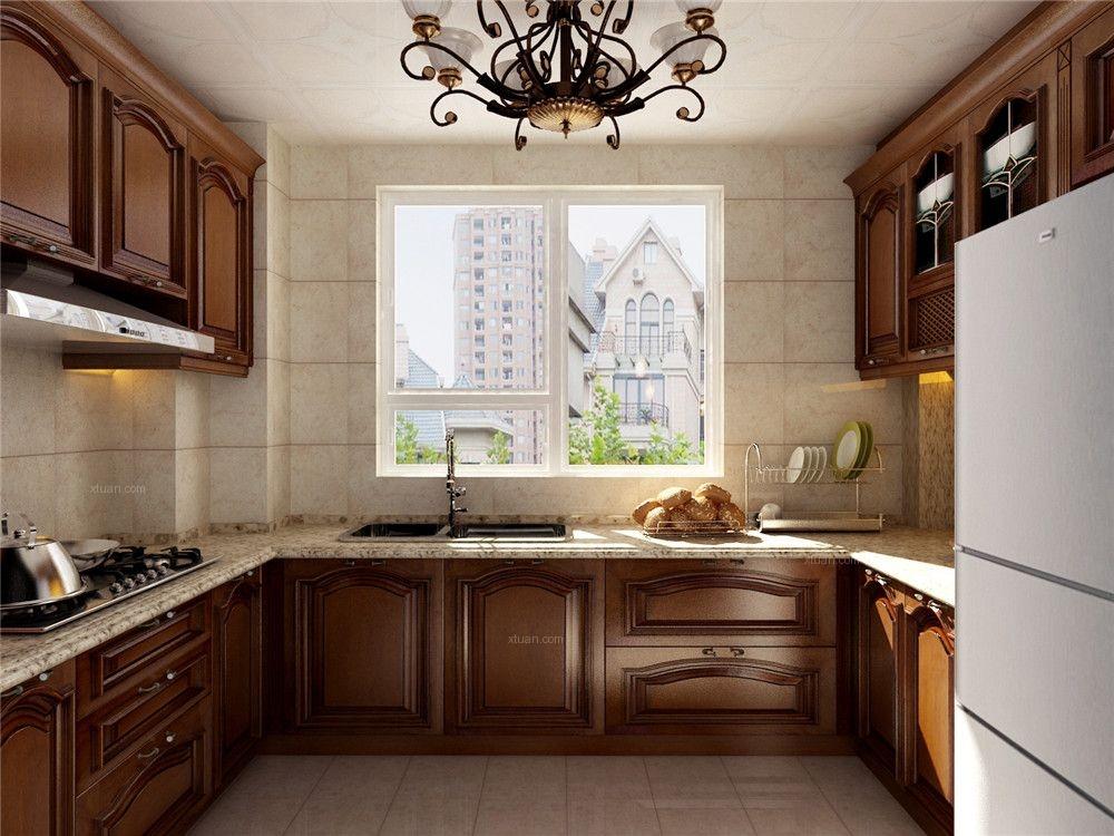三室两厅美式风格厨房图片