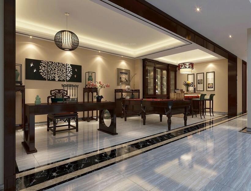 别墅中式风格地下室图片