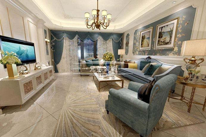 四居室欧式风格客厅沙发背景墙图片
