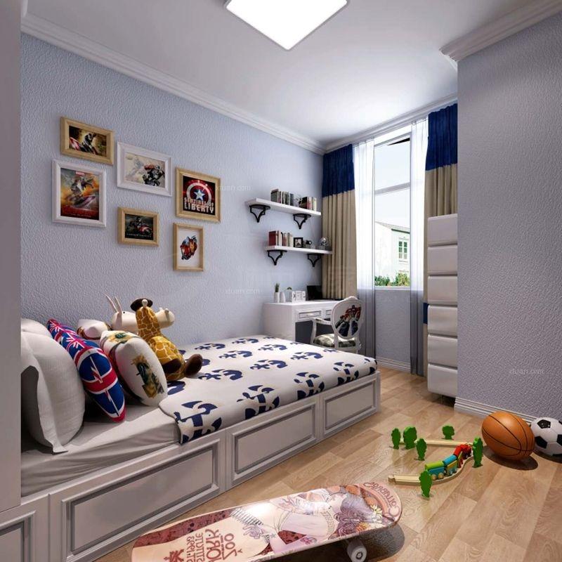 三居室简欧风格儿童房榻榻米