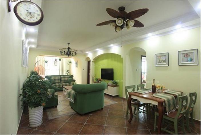 龙泉国际三居室装修