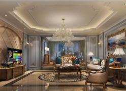 成都室内装修设计半岛城邦法式风格