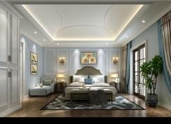 成都尚层别墅装饰麓山国际香怡林美式风格效果图