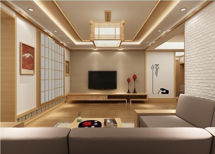 沈阳76平两室日式风装修效果图