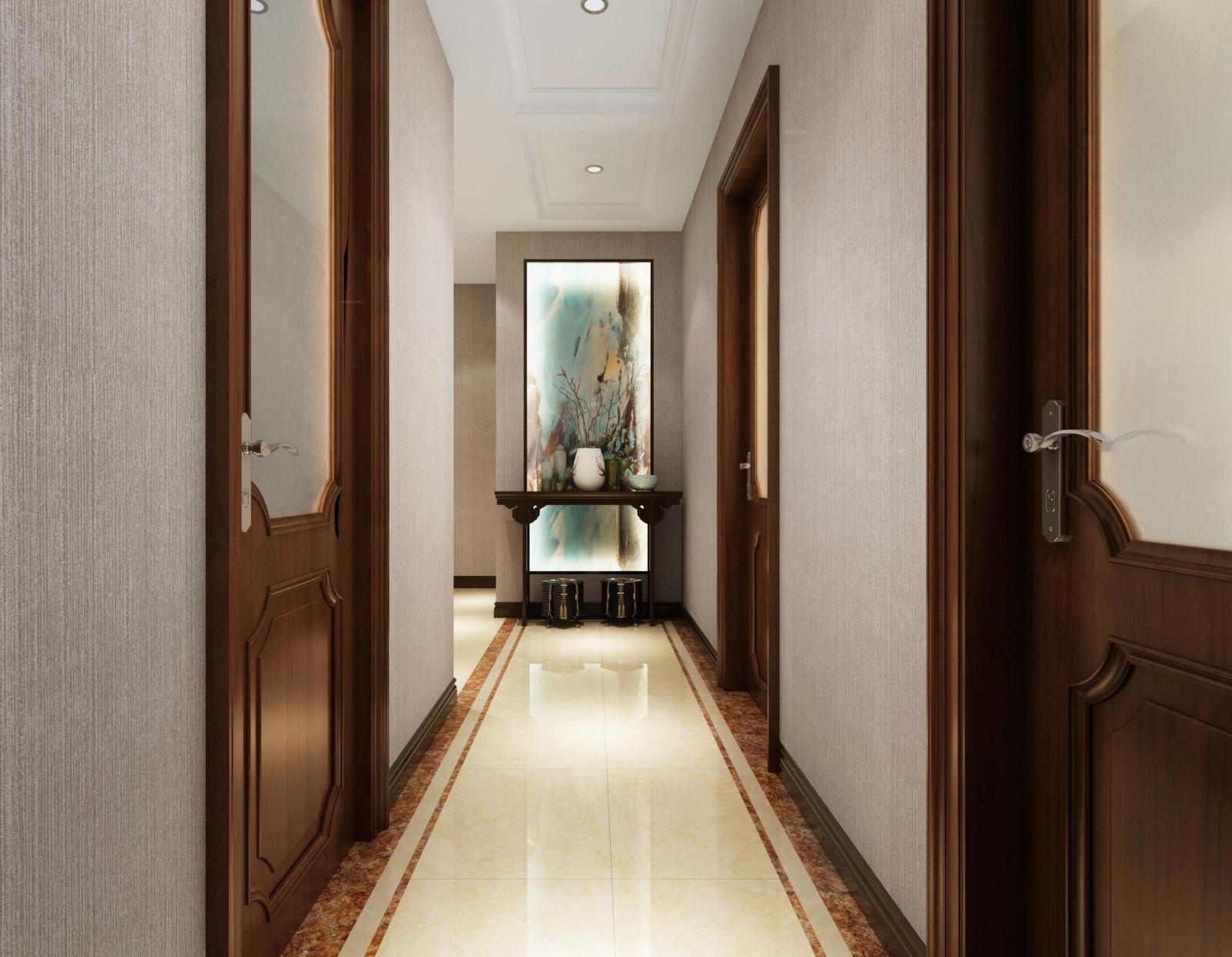 两室两厅中式风格玄关图片