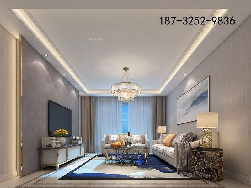 铂悦山121平三居室简约风格装修效果图